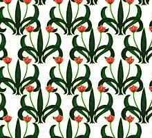 Nouveau Style Tulips 1  by pyktispix