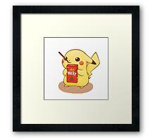 Pocky Pikachu Framed Print