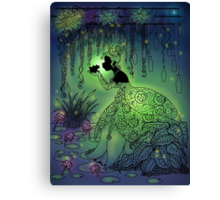 Silhouette Tiana  Canvas Print