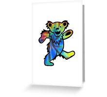 Grateful Dead Dancing Bear Tye Dye Greeting Card