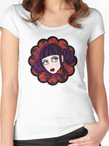 JAPANESE THEME Women's Fitted Scoop T-Shirt