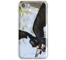 Carnaby's Cockatoo flying out of a Gum tree. iPhone Case/Skin