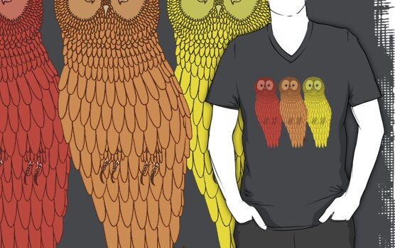 The Owl Trio by Adam Excell