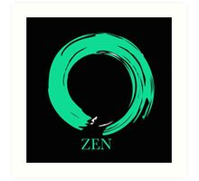 7 DAY'S OF SUMMER-YOGA ZEN RANGE- EMERALD ENSO Art Print