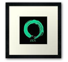 7 DAY'S OF SUMMER-YOGA ZEN RANGE- EMERALD ENSO Framed Print