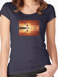 Golden dream Women's Fitted Scoop T-Shirt
