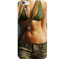 Young woman walking out of water art photo print iPhone Case/Skin