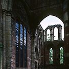 Ruined end to old church Lanercost Priory Cumbria England 198405260029 by Fred Mitchell