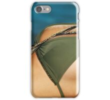 Young sensual couple kissing on the beach art photo print iPhone Case/Skin