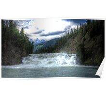 Bow River Waterfall in Banff (HDR) Poster