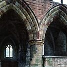 Ruins and arches of old church Lanercost Priory Cumbria England 198405260032 by Fred Mitchell