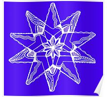 Star Tangles 3 White  - an Aussie Tangle by Heather Poster