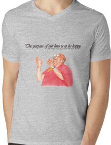 Be Happy Mens V-Neck T-Shirt