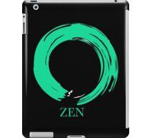 7 DAY'S OF SUMMER-YOGA ZEN RANGE- EMERALD ENSO iPad Case/Skin