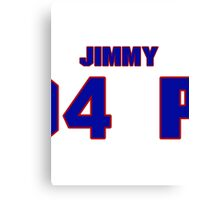 National Hockey player Jimmy Peters jersey 20 Canvas Print
