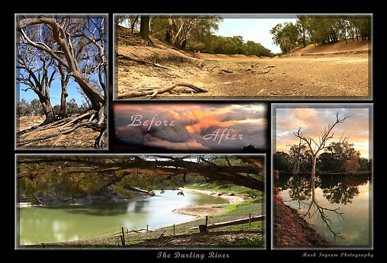 Before and After - The Darling River by Mark Ingram Photography