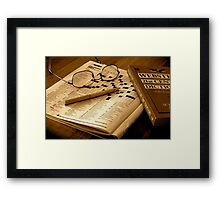 Brain Teaser Framed Print