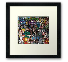 Iconic cartoons and music Framed Print