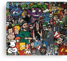 Iconic cartoons and music Canvas Print