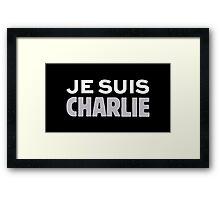 Je Suis Charlie, I AM CHARLIE Framed Print
