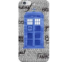 Tardis Doctor Quotes iPhone Case/Skin