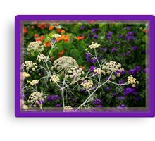 The Colours Seen Through Natural Lace of Nature Canvas Print
