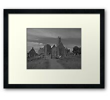 Quin abbey black and white Framed Print