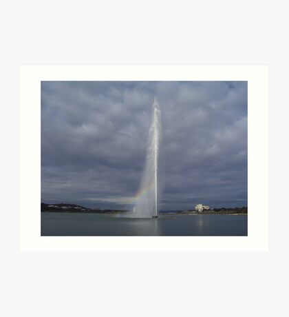 """Pot of gold"" - Captain Cook Memorial Jet Fountain - Canberra Art Print"