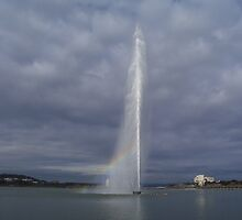 """Pot of gold"" - Captain Cook Memorial Jet Fountain - Canberra by eucumbene"