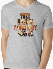 They Hate UsCause They Aint Us Mens V-Neck T-Shirt