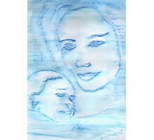 Aquarian Goddess Mother & Child Photographic Print