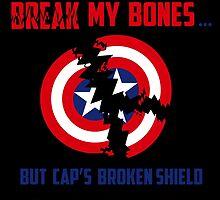 Cap's broken shield by Oona Oceana