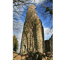Dysart O Dea round tower Photographic Print