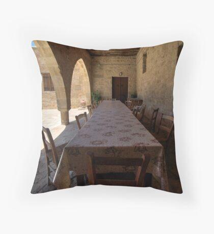 The Dinner Table Throw Pillow