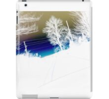 Landscape abstract, blue gold and white iPad Case/Skin