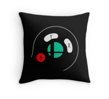 Smash Bros Gamecube Controller Throw Pillow