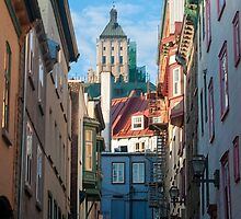 Old Quebec: Early Morning Street by Gary Chapple