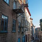 Old Quebec: Early Morning Fire Escapes by Gary Chapple