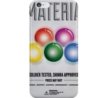 Materia: Soldier tested, Shinra approved iPhone Case/Skin