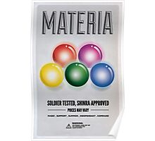 Materia: Soldier tested, Shinra approved Poster