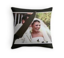 Marrying Reality Throw Pillow