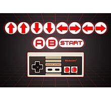 Nintendo, Konami Code , controller Photographic Print