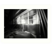 Disused offices Art Print