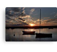 Sunset over Burnham Overy Staithe, Norfolk, UK Canvas Print