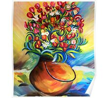 Multicoloured flowers Poster