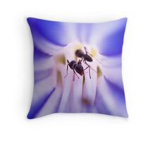 Ants in a flower Throw Pillow