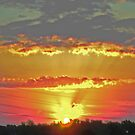 Sunrise Over St Charles Mo. by candy