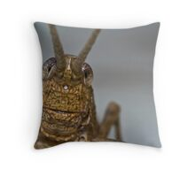 Grasshopper's face Throw Pillow