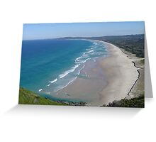 Beach off Arakwal National Park Greeting Card