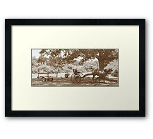 Amish Boat Trailer Framed Print